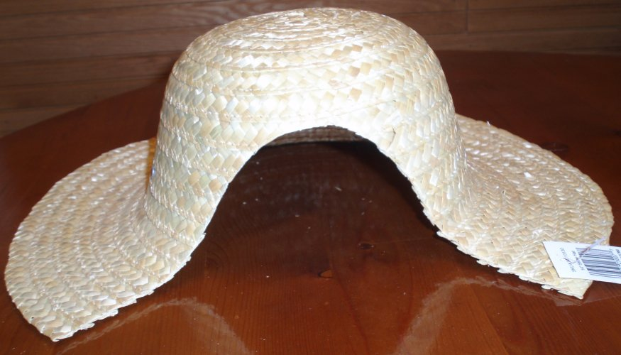 bf91f0132 Making a Bonnet from a Straw Hat